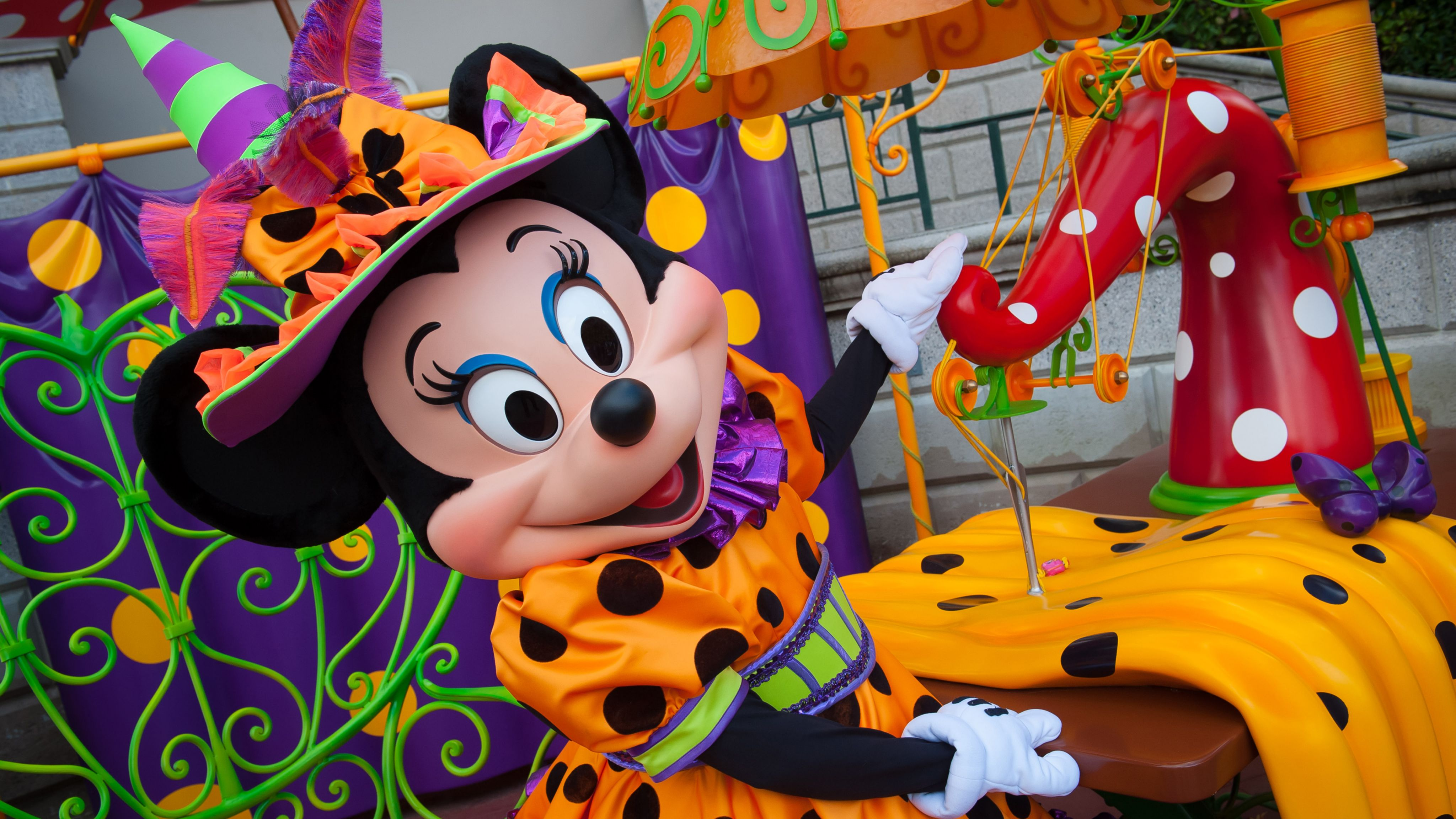 Minnie Mouse at Disneyland Paris for Halloween 2015 with ...