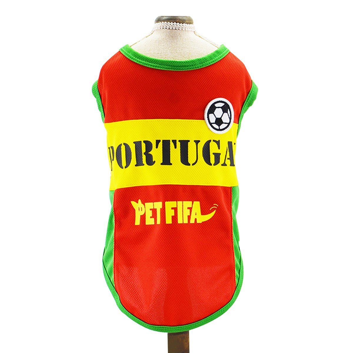 f80c4ea87 Besmall Dog Tshirt Costume Sport Jersey Pet National Flag Football Soccer  World Cup FIFA Portugal L    Make sure to check out this remarkable item.