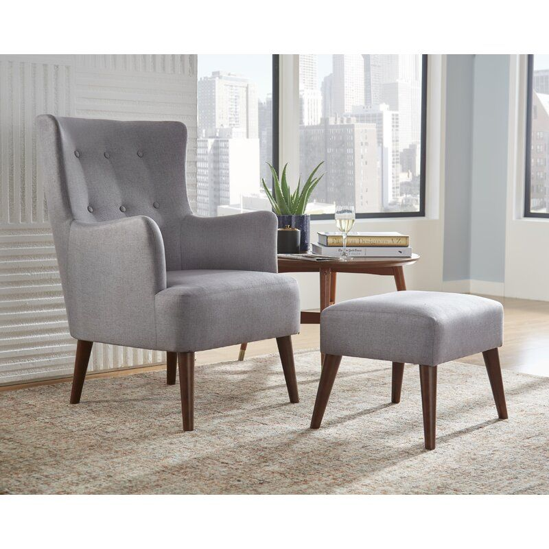 Binegar Wingback Chair Chair And Ottoman Set Furniture Chair And Ottoman