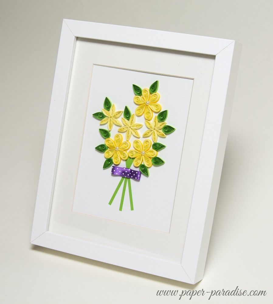Quilling Picture Flowers By Paper Paradise Quilling Art Pinterest