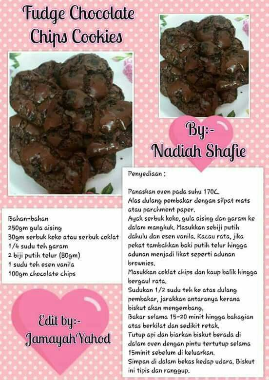 Fudge Chocolate Chip Cookies Choc Chip Cookie Recipe Cookie Recipes Cookie Cake Recipe