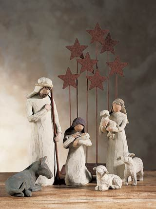Celebrate with Joy Week 2 Willow tree nativity, Willow tree and
