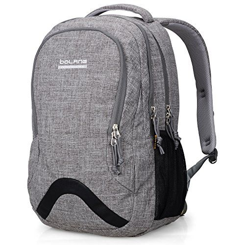 Bolang 8474 Lightweight Waterproof Nylon Backpack School Bag College Laptop  Bag for Teens Girls Boys Students Grey   Read more at the image link. d958eea7d5351