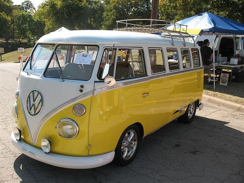 Yellow VW Bus - I want one so bad