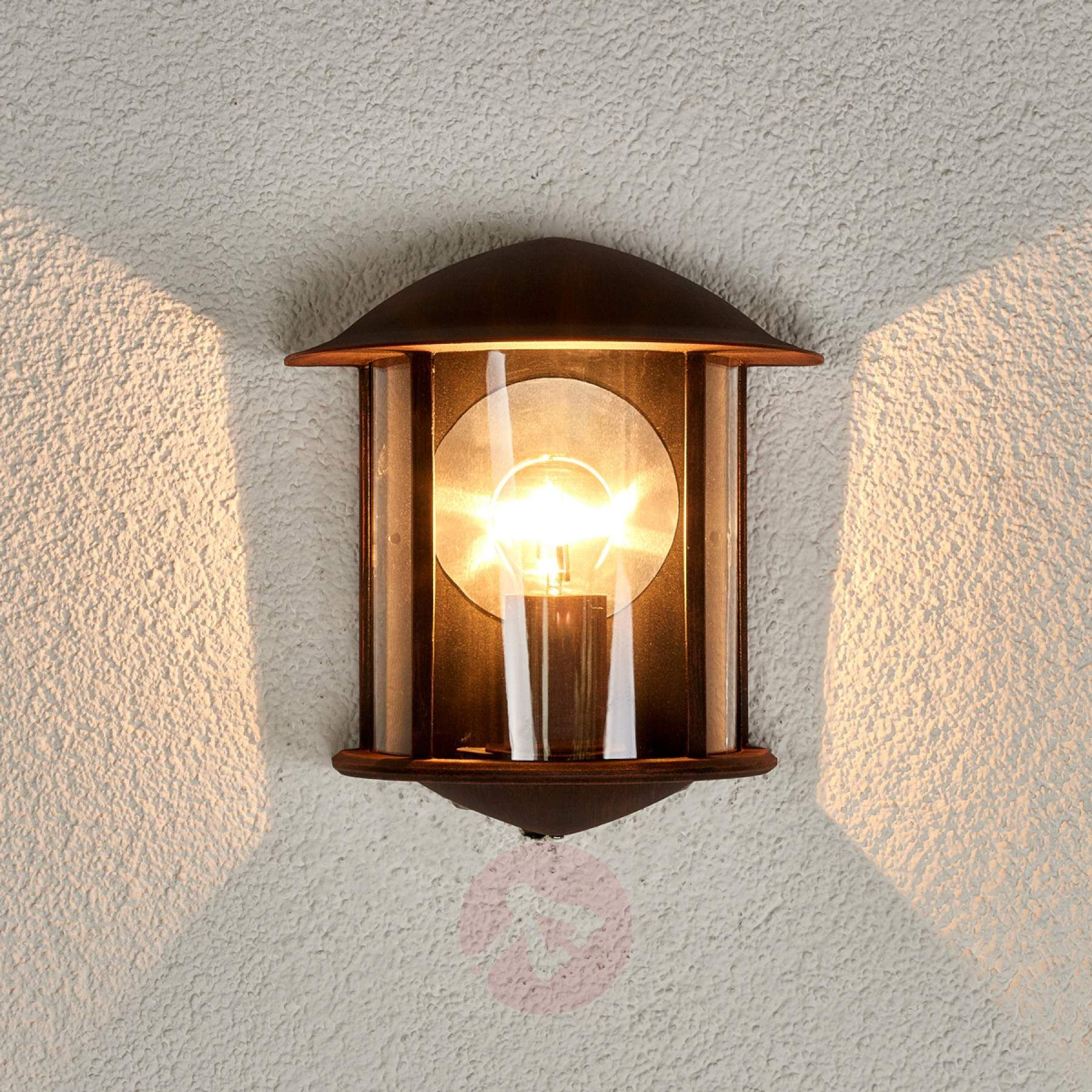 Maelis Led Outside Wall Light Rust Brown Wall Lights Exterior Wall Light Wall