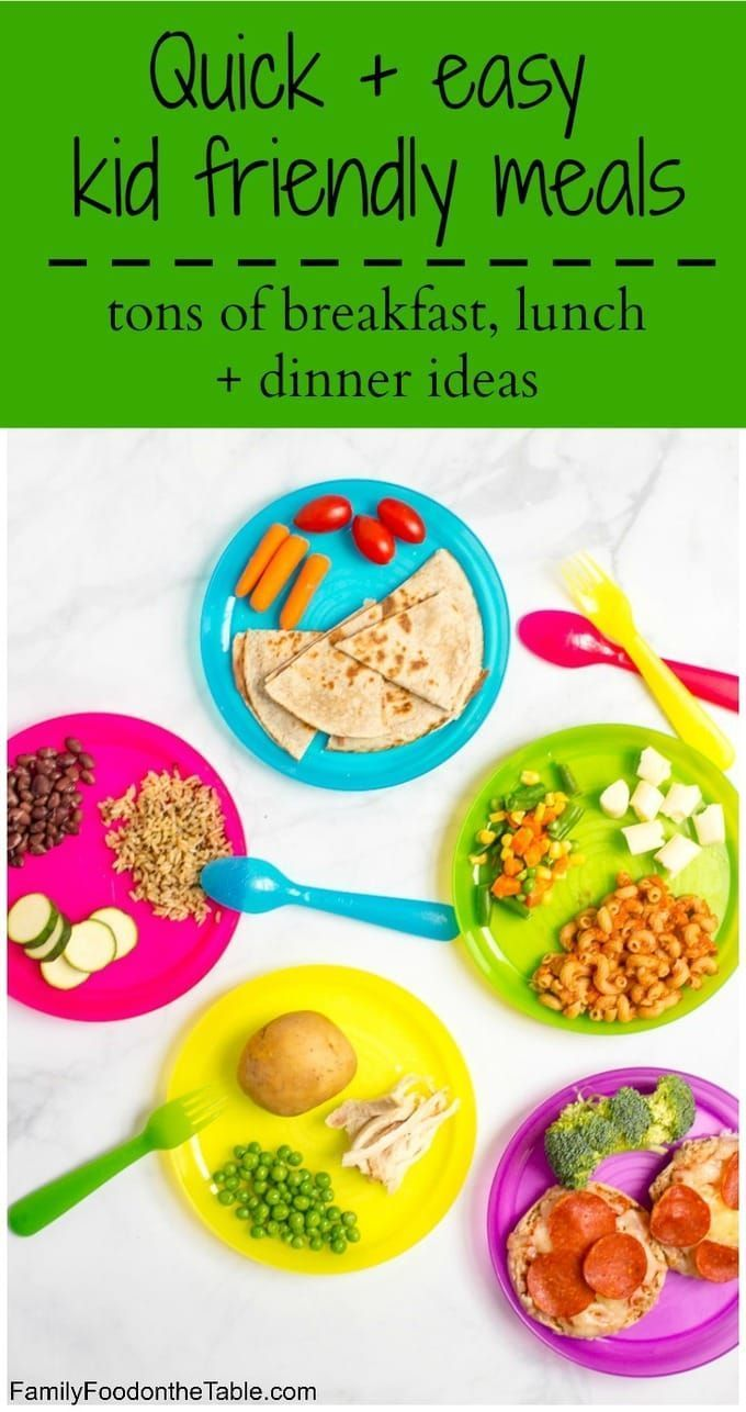Healthy, quick kid friendly meals images