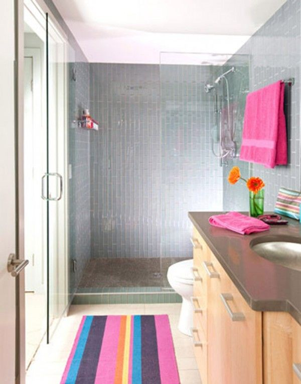 Simple Small Beautiful Bright Bathroom Design Shiny Bright