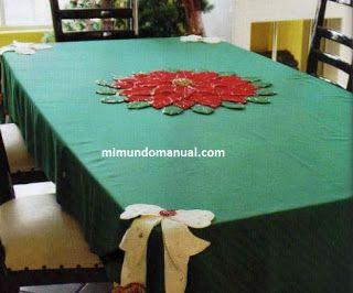 Manualidades Manteles Para Navidad.Mantel Navideno En Fieltro Y Lentejuela Mimundomanual
