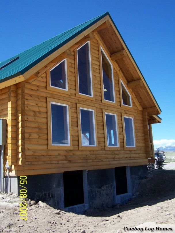 Chalet Style Log Home Gable End Log Homes Chalet Style Home