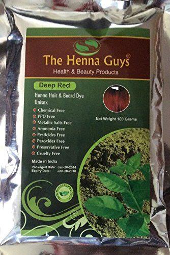 Deep Red Henna Hair Beard Dye Color 1 Pack The Henna Guys