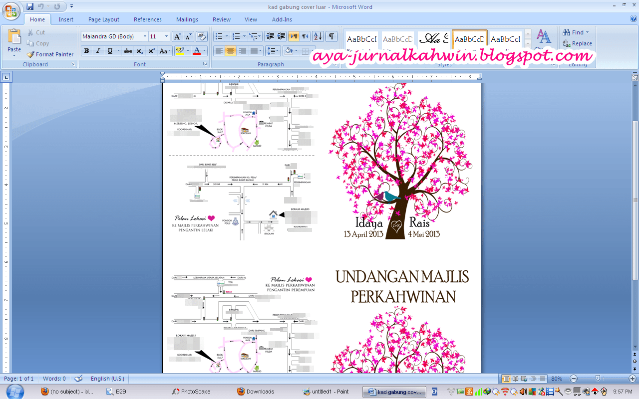 Template Kad Kahwin Microsoft Word Kad Kahwin Event Calendar Template Templates