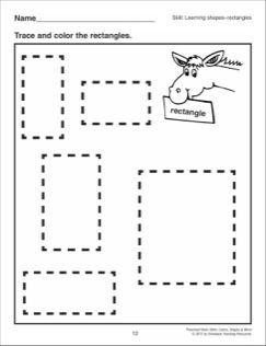 Rectangles: Preschool Basic Skills (Shapes) | Learning ...