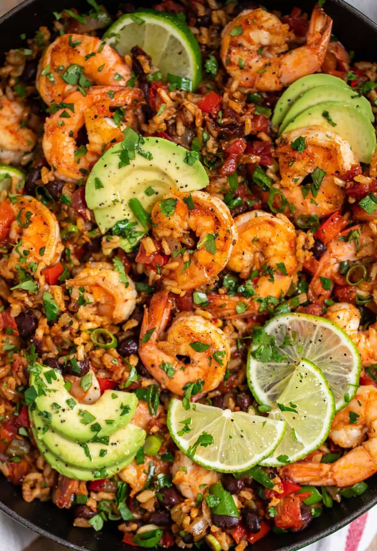 Mexican Shrimp | Healthy Mexican Shrimp with Rice #mexicanshrimprecipes