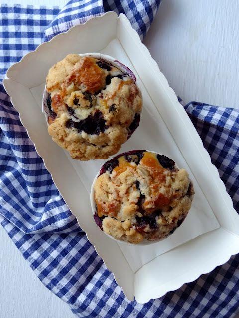 Blaubeer Muffins mit Streussel