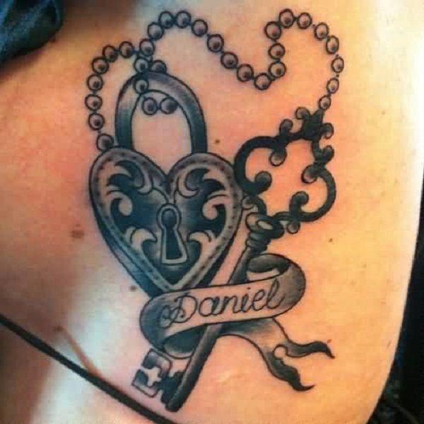35 Meaningful Lock And Keys Tattoos Nenuno Creative Key Tattoo Designs Key Tattoo Locket Tattoos