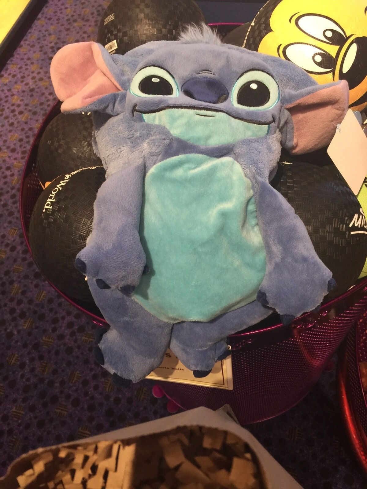 disney parks stitch character cuddle plush blanket new with tags