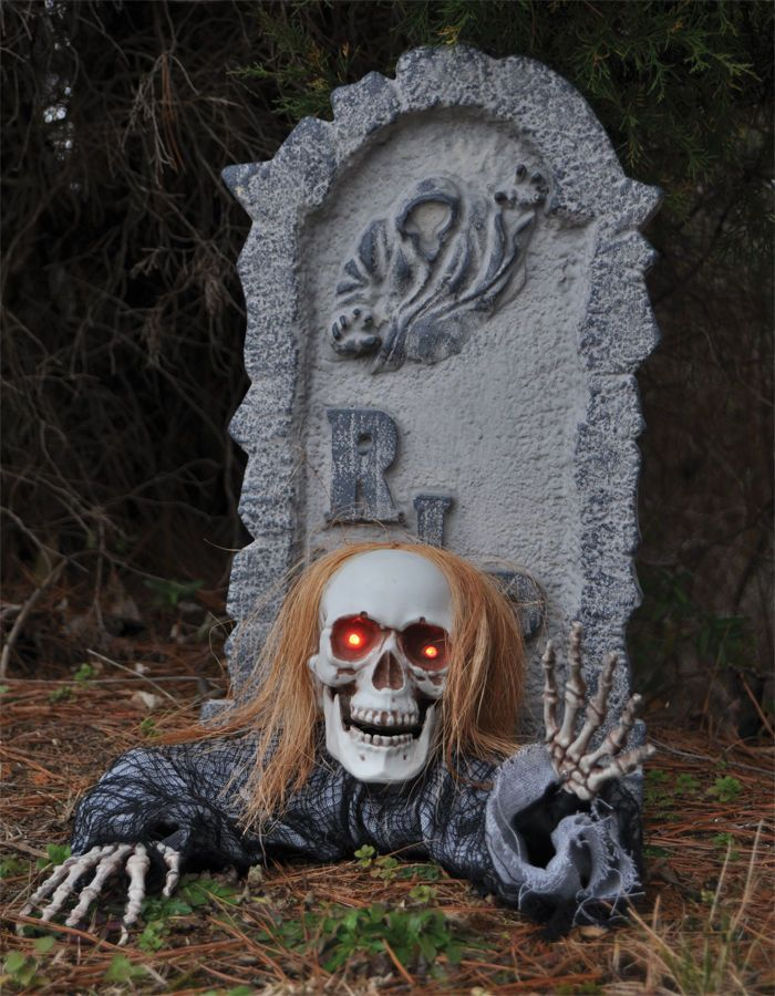Halloween Ground Breaker Party Decoration Outdoor Garden Prop Grave Graveyard