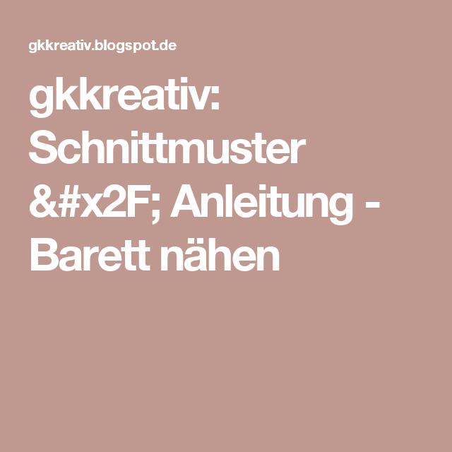 gkkreativ: Schnittmuster / Anleitung - Barett nähen | nähen | Pinterest