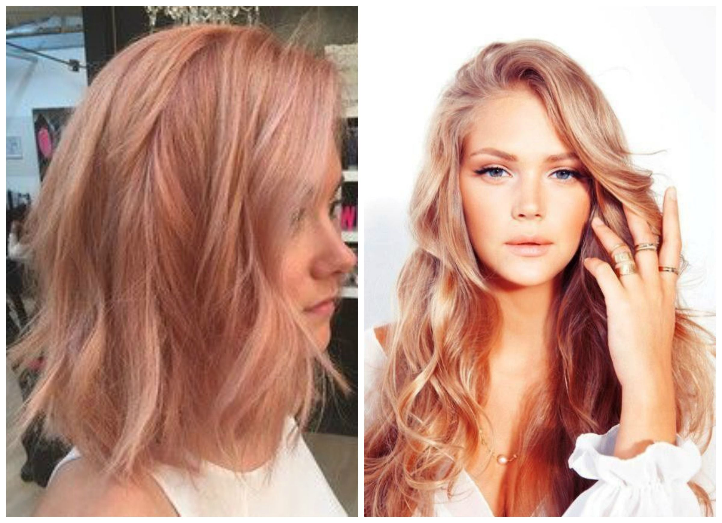 People Are Calling This New Hair Color Trend Blorange But We Think There S Probably A Better Name For It Maybe Peach Rose Gold Even