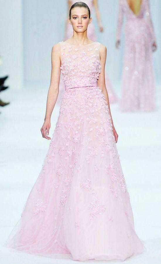 Pink floral wedding dress bu elie saab Pastel Dress #2dayslook ...