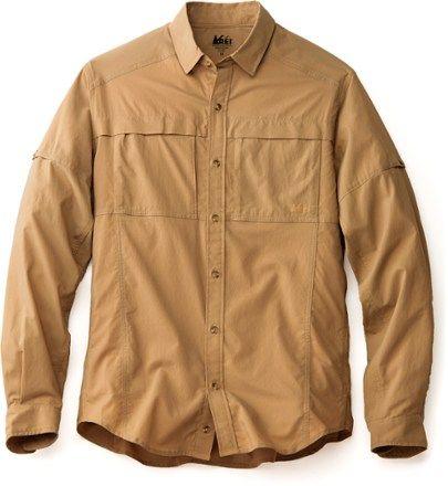 REI Co-op Men's Sahara Tech Long-Sleeve Shirt Light Tawny XXL