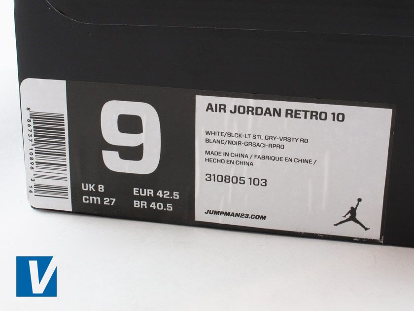 e81f107a5a1a14 Nike retail boxes feature a label on one side detailing style name ...
