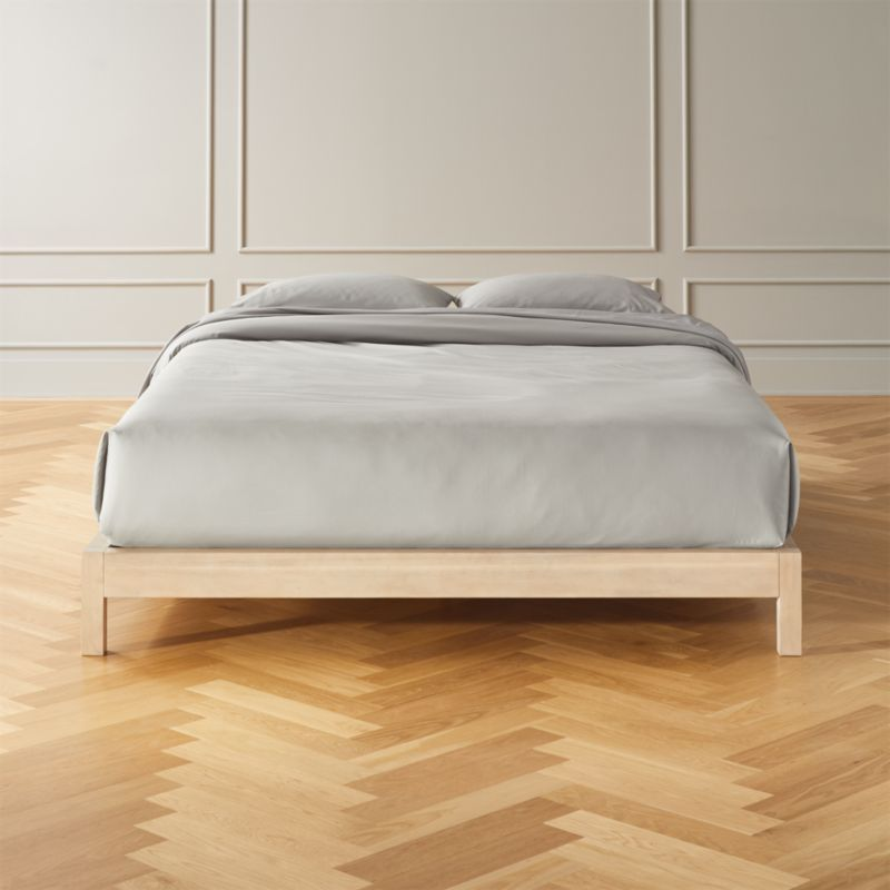 Simple Whitewash Bed Base Queen Reviews White Metal Bed Metal