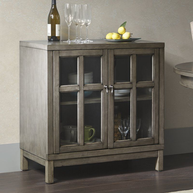 Helena 2 Glass Door Credenza Mirrored Furniture Kitchen Dining