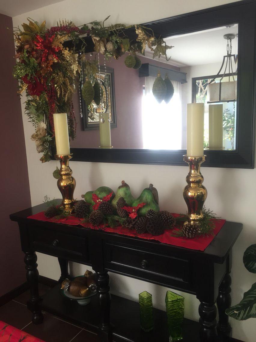 Bufeteras navidad pinterest navidad espejo y - Ideas de arreglos navidenos ...