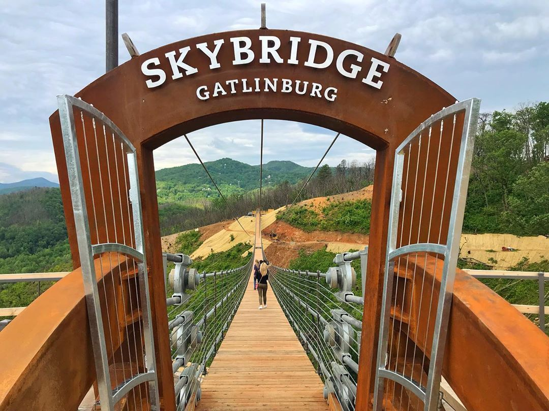 Now Skybridge Gatlinburg Is The Longest Pedestrian Suspension Bridge In North America And The Tennessee Vacation Smokey Mountains Vacation Gatlinburg Vacation