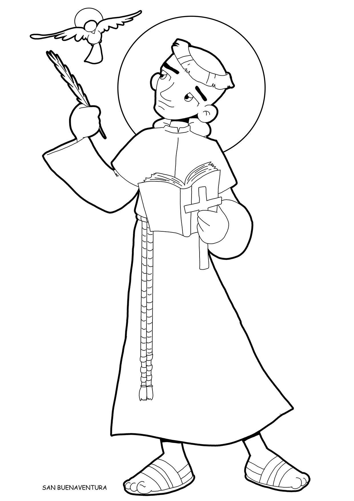 San Buenaventura Para Pintar Dibujos San Rafael Arcangel