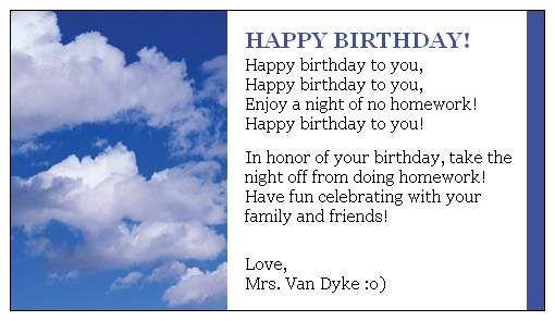 Happy Birthday...vistaprint
