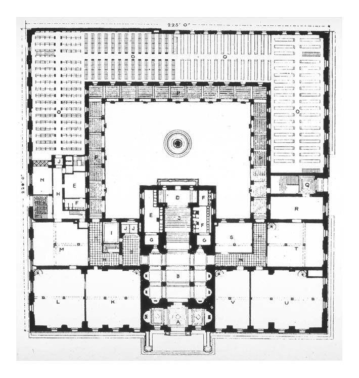 Architectureweek Great Buildings Image Boston Public Library Library Floor Plan Boston Public Library Library Plan