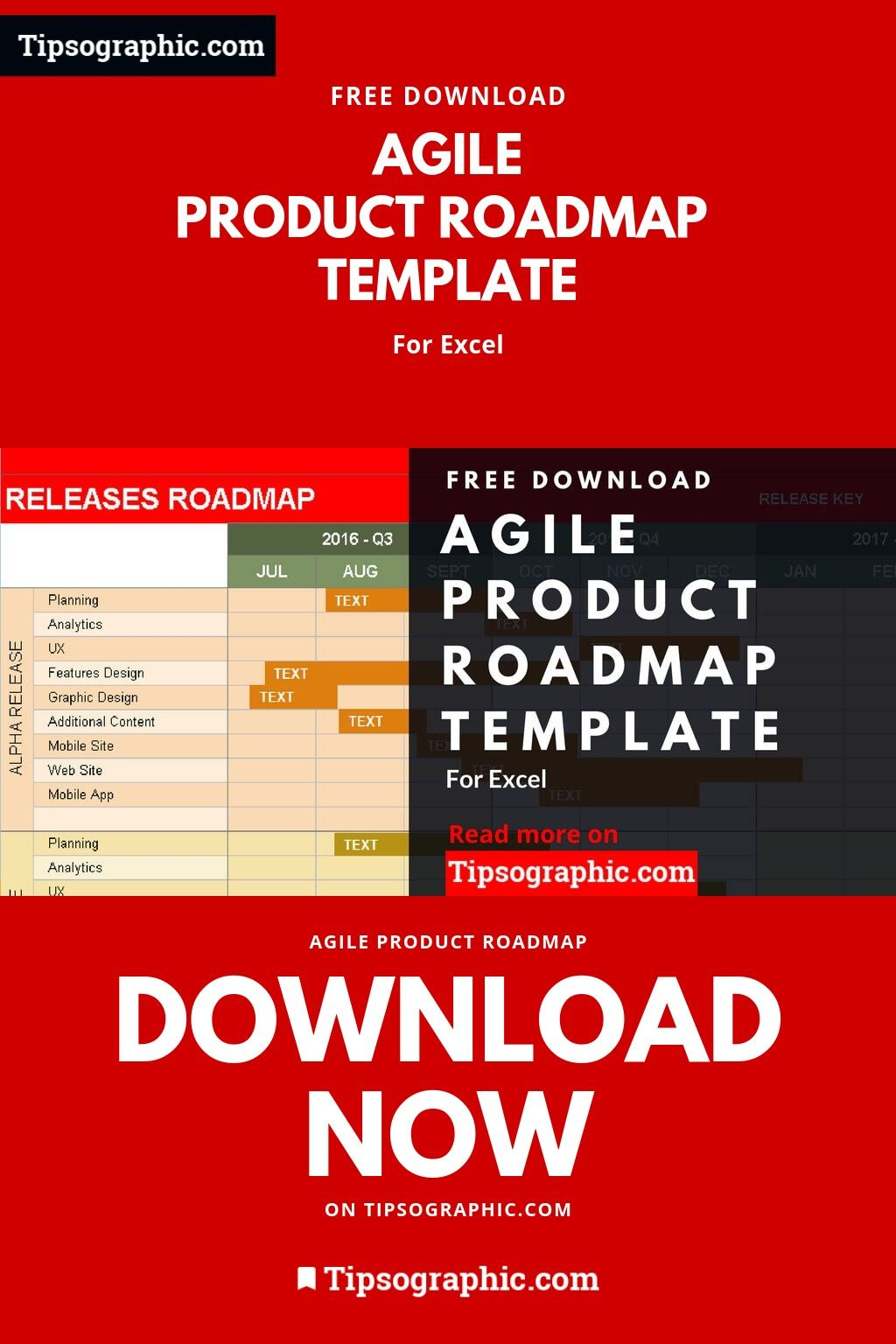 Agile Product Roadmap Template for Excel, Free Download