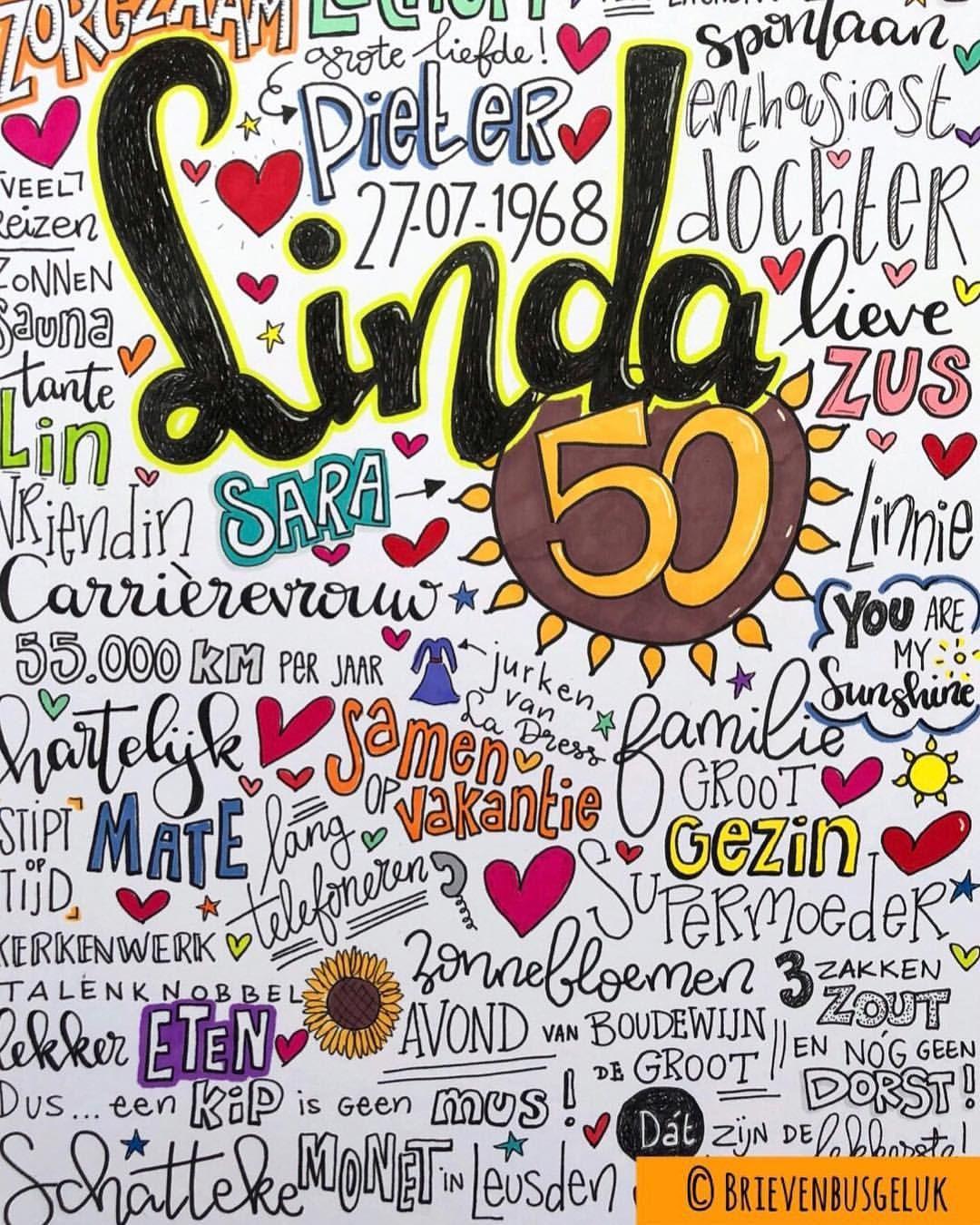 Goede Linda 50 • ©️ 🌻🌞🌻 Linda vierde begin deze maand haar 50e RB-17