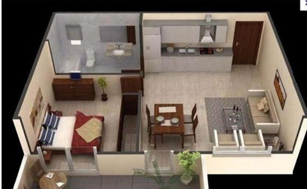 Awesome Minimalist 1 Bedroom Apartment Interior Design In 2020 Apartment Design Apartment Interior Design Apartment Layout