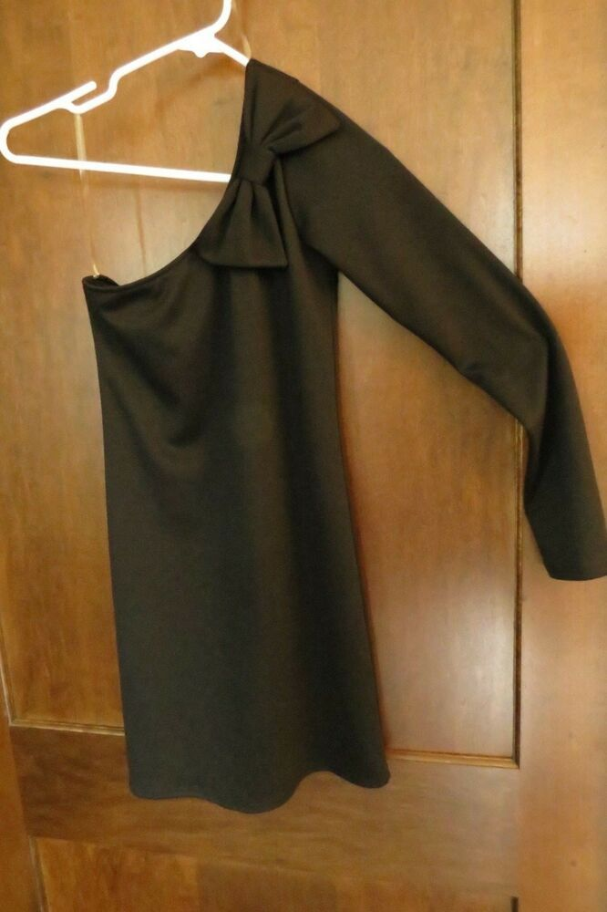 6f1fd765edf Everly Dress Anthropologie Stitch Fix Womens Black Small One Shoulder Bow   Everly  PartyCocktail