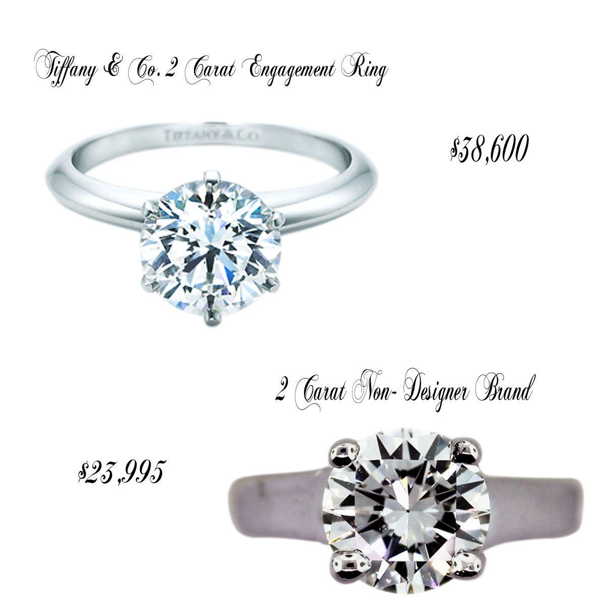 Wedding Tiffany Co Engagement Ring Vs Non Namebrand