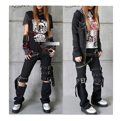 Rock Clothes Cyber Punk Rock Gothic Clothing Pants