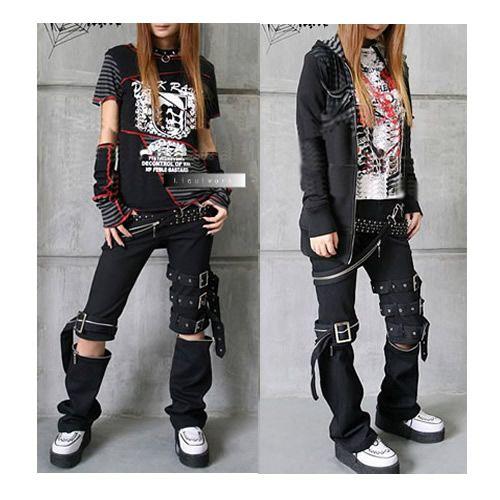 Punk Rock Gothic Fashion Clothing Pants Capris for Men ...