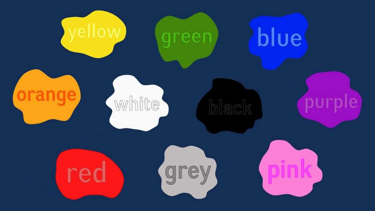 Colors preschool songs - Colours Song 2 British English