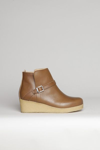 a97a43801aa8 Totokaelo - A.P.C. - Wedge Boots - Nut Brown