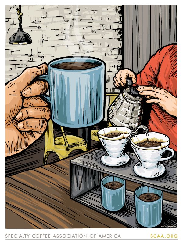 Photo of #CoffeeDesign #Coffee #illustration #SCAA #PourOver