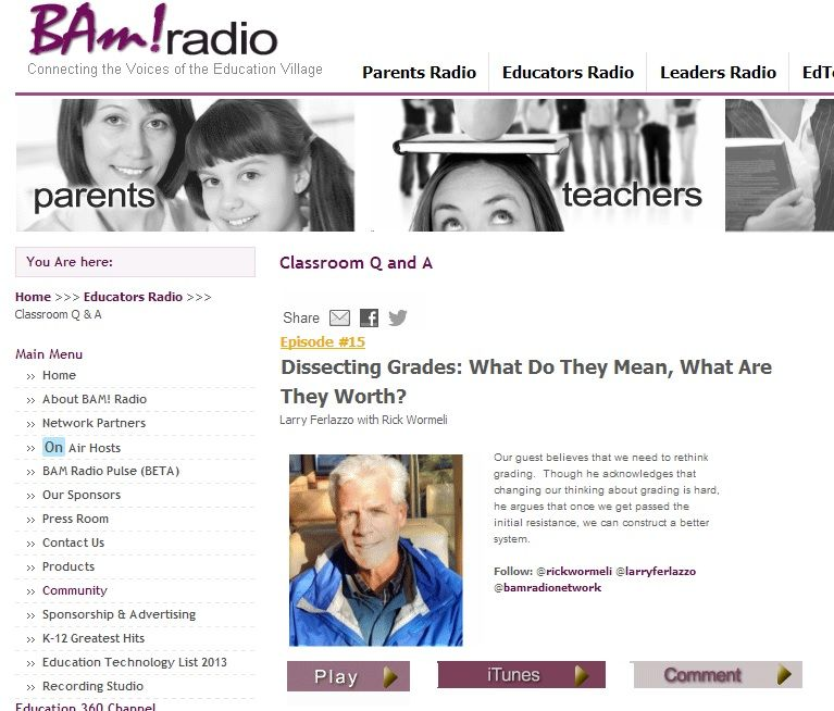 """""""Dissecting Grades: What Do They Mean, What Are They Worth?"""" Is My New BAM! Radio Program"""