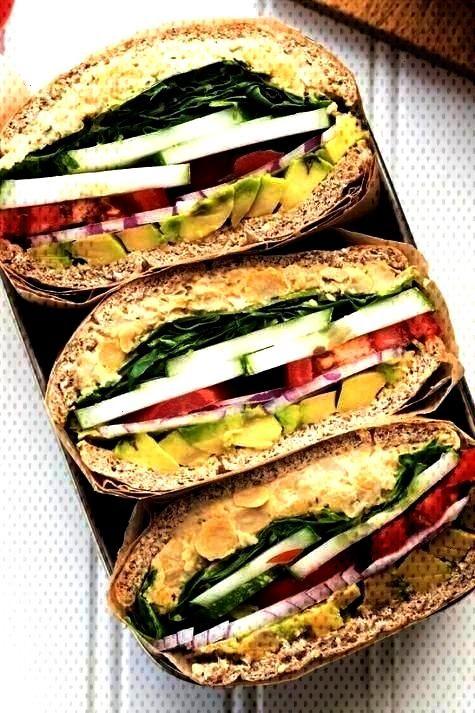 Lunches With No Meat Or Dairy - Comidas, receitas e guloseimas de viagem -19 Easy Lunches With No