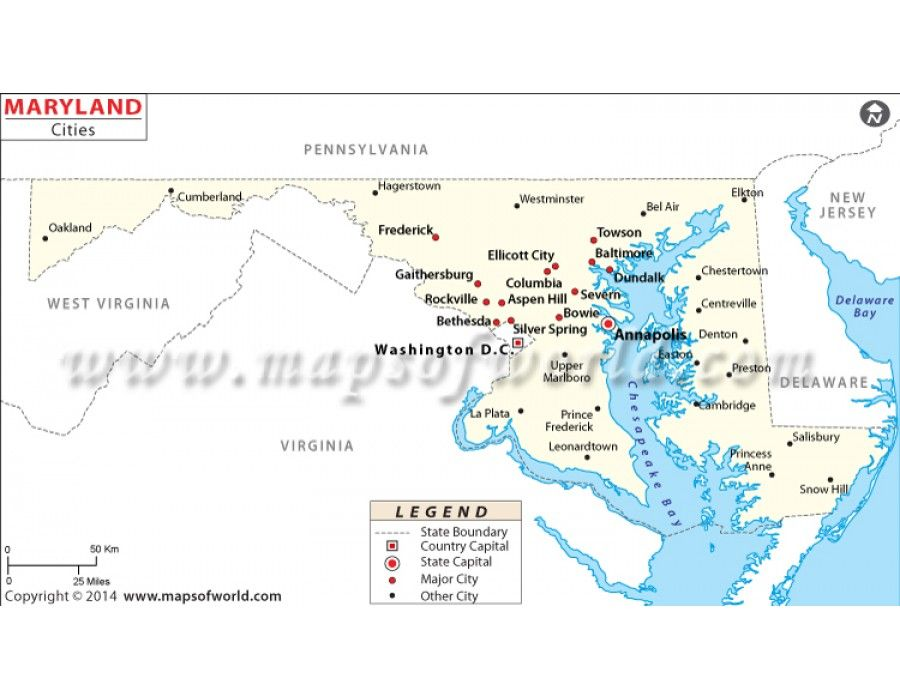 Buy Maryland Cities Map Online US Maps Pinterest City maps