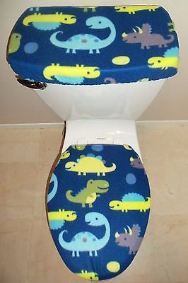 Groovy Dinosaurs T Rex Fleece Fabric Toilet Seat Cover Set Ibusinesslaw Wood Chair Design Ideas Ibusinesslaworg