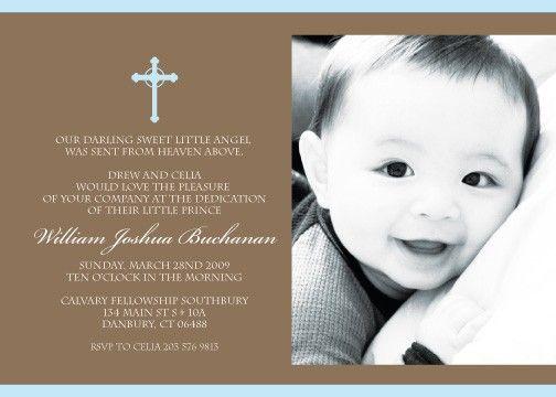 Babys Christening Dedication Printable Invitation Birthdays