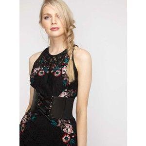 miss selfridge black pu eyelet corset belt  clothes