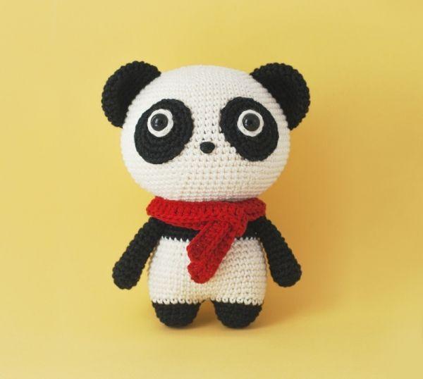 Momo the Panda amigurumi pattern by DIY Fluffies   Miniaturas y ...